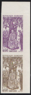 FRANCE (1967) King Louis IX. Trial Color Proof Pair From Margin Of Sheet. St. Louis Holding Audience With Poor. Sc 1201 - Prove