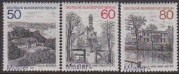 GERMANY (1982) Various Locales. Set Of 3 Specimens (overprinted MUSTER). Scott Nos 9N476-8, Yvert Nos 646-8. - [5] Berlin
