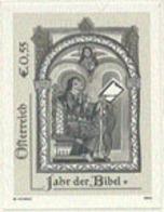 AUSTRIA (2003) Monk Illuminating Manuscript. Black Print. Year Of The Bible. - Prove & Ristampe