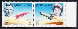 QATAR (1966) Gagarin. Tchereshkovna. Unissued Set Of 2. Very Rare! - Qatar