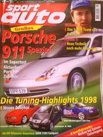 CA174 Autozeitschrift Sport Auto, Nr. 1/1998, Porsche 911 Spezial, Neuwertig - Automóviles & Transporte
