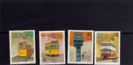 PORTOGALLO - PORTUGAL 1989 TRASPORTI DI LISBONA TRANSPORTS LISBOA COMPLETE SET SERIE COMPLETAMNH - 1910 - ... Repubblica