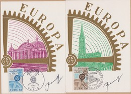 2 CARTES  SIGNE EUROPA 1967 STRABOURG    VOIR PHOTO - Cartoline Maximum