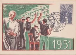 CARTE   1951 JOURNE NATIONALE DUTIMBRE VOIR PHOTO - Cartes-Maximum