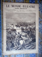 LE MONDE ILLUSTRE 23/03/1878 RUSSIE TURQUIE PAIX ORIENT SAN STEFANO ANDRINOPLE ARMEE RUSSE ROME CONCLAVE - Newspapers