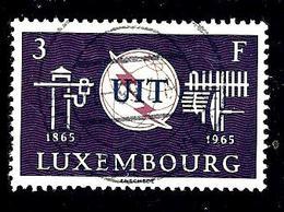 LUXEMBOURG  669° 3f Violet-noir, Lilas-brun Et Bleu-noir Centenaire De L'UIT (10% De La Cote + 0,15) - Luxembourg