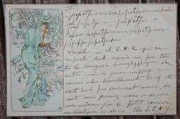 CPA - MUCHA - Art Nouveau - Femme / Lady - Mucha, Alphonse