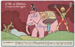 PUBLICITE. LE THE L'ELEPHANT à TRAVERS Les AGES. ANNIBAL. 1958. - Publicité