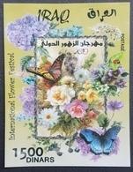 Iraq NEW 2019 Block S/S Souvenir Sheet MNH - Flowers & Butterflies - Ltd Issue 1.000 Only !!! - Irak