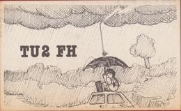 QSL Card Amateur Radio Funkkarte Cote D' Ivoire Philippe Honore Oume 1976 Rwanda Afrique Africa - Radio Amatoriale