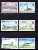 SAINT  HELENA    2001    Royal  Navy  Ships  Of  Second  World  War   Set  Of  6     MNH - Saint Helena Island