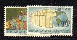 APR1537 - NICARAGUA 1961 , Posta Aerea Serie Yvert N. 423/424  ***  MNH  (2380A) .RIFUGIATO - Nicaragua