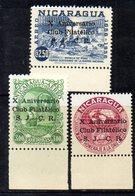 APR1538 - NICARAGUA 1960 , Posta Aerea Serie Yvert N. 414/416  ***  MNH  (2380A) . - Nicaragua
