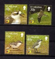 SAINT  HELENA    2002    Saint  Helena  Sand  Piper   Set  Of  4     MNH - Saint Helena Island