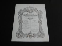 1852 Menu Philippe DE PAUW Burgemeester Van MECHELEN - Menus