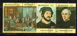 APR1540 - NICARAGUA 1986 , Posta Aerea Serie Yvert N. 1171/1174  Usata  (2380A) COLOMBO - Nicaragua
