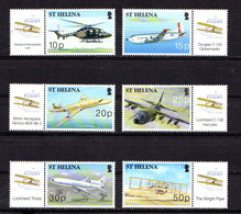 SAINT  HELENA    2003    Centenary  Of  Powered  Flight   Set  Of  6     MNH - Saint Helena Island