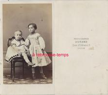 CDV 2 Beaux Enfants-époque Second Empire-photo Durand à Lyon-bel état - Antiche (ante 1900)