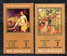 APR1542 - NICARAGUA 1971 , Posta Aerea Serie Yvert N. 730/731  ***  MNH  (2380A) - Nicaragua
