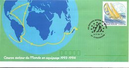 FRANCE- LETTRE ENTIER POSTAL 2.50 POSTIERS AUTOUR DU MONDE - CACHET 24/25.9.93 STASBOURG 67  / 1 - Biglietto Postale