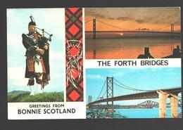 The Forth Bridges - Greetings From Bonnie Scotland - Multiview - 1978 - Midlothian/ Edinburgh