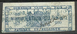 BELGIEN Belgium Ca 1880 Revenue Tax Steuermarke O - Revenue Stamps