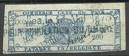 BELGIEN Belgium Ca 1880 Revenue Tax Steuermarke O - Steuermarken