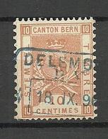 SCHWEIZ Switzerland O 1896 Canton Bern Stempelmarke Documentary Tax 10 C. O - Steuermarken