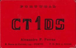 QSL Card Amateur Radio Funkkarte Portugal Porto  Alexandre P. Ferraz AREOSA 1974 - Radio Amateur