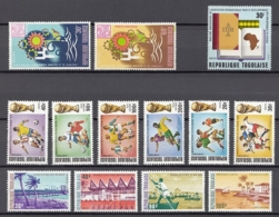 (3) Togo - 13 Unused Stamps From The Years 1968-1974 - See Scan - Togo (1960-...)