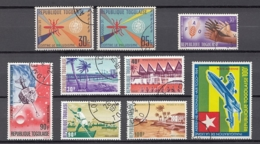 (4) Togo - 9 Used Stamps From The Years 1962-1974 - See Scan - Togo (1960-...)