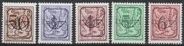 Preos Serie 62 Pre 806P7a/811 P7a Grijze Gom ** - Typo Precancels 1951-80 (Figure On Lion)