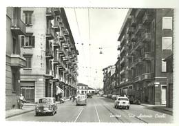 """4385""""TORINO-VIA ANTONIO CECCHI""""-ANIMATA-AUTO/AUTOCARRI '50/60-CART.POST ORIG.NON SPED. - Italie"""