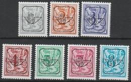 Preos Serie 63 Pre 801P7/813P7 Blauw Papier ** - Typo Precancels 1951-80 (Figure On Lion)