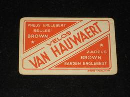1 Oude Speelkaart Vélos VAN HAUWAERT Fietsen Banden ENGLEBERT Pneus - Other