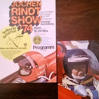 CA181 Programmheft Jochen Rindt Show 1974 Mit Autogrammkarte, Nicht Signiert, Neuwertiger Zustand - Sport