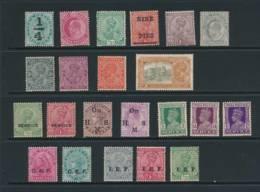 INDIA, 1898-1930s Classic Colletion Unused No Gum - India (...-1947)
