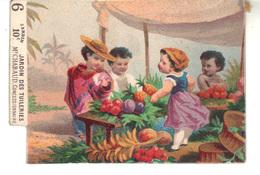 Petit Chromo   N° 6 - Marché De  Fruits - Jardin Des Tuileries 10 C M. Chabaud Concessionnaire.  Eau Antinévralgique . - Trade Cards