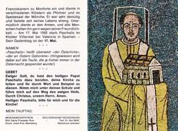 S. PASQUALE I° PAPA - Mm. 85x125 - Apribile - Biogr. E Preghiera In Tedesco - Religione & Esoterismo