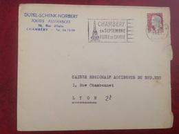 Chambery Dutel Schenk Norbert - Marcophilie (Lettres)