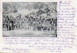96Cc  Nouvelle Caledonie Chefs Canaques Et Leur Suite En 1902 - Nouvelle Calédonie