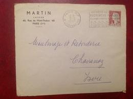 Laines Martin Paris - Marcophilie (Lettres)