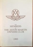 CA184 Clubheft The Members Of The Aston Martin Owners Club 1993, Neuwertig - Auto & Verkehr