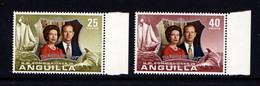 ANGUILLA    1972    Royal  Silver  Wedding    Set  Of  2    MNH - Anguilla (1968-...)