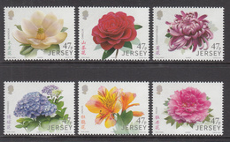 2015 Jersey Flowers Fleurs Complete Set Of 6 MNH @  BELOW FACE VALUE - Jersey