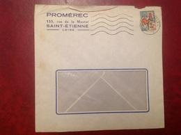 Saint Etienne Promerec - Marcophilie (Lettres)