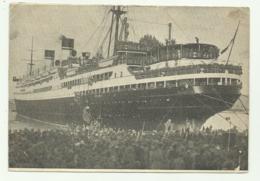 NAVE CONTE BIANCAMANO MENTRE SALPA 6/5/1939  VIAGGIATA  FG - Dampfer