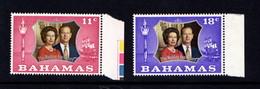 BAHAMAS    1972    Royal  Silver  Wedding    Set  Of  2    MNH - Ascension