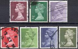 GRAN BRETAGNA 1971/2006 - ELIZABETH II - 7 VALORI USATI - 1952-.... (Elisabetta II)