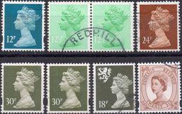 GRAN BRETAGNA 1971/2006 - ELIZABETH II - 8 VALORI USATI - 1952-.... (Elisabetta II)